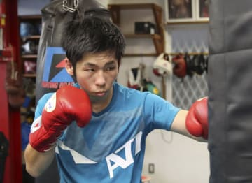 IBFフライ級タイトルマッチに初挑戦する坂本真宏=大阪市