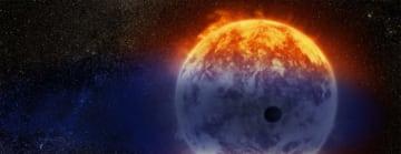 大気が蒸発するホット・ネプチューン「GJ 3470b」の想像図 (c)  NASA, ESA, and D. Player (STScI)