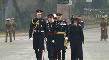 Caption : Prince William, The Duke of Cambridge attends the Sovereign's Parade at the Royal Military Academy Sandhurst PersonInImage : Prince William,Duke of Cambridge Credit : WENN