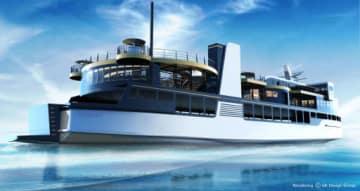 来年8月に就航する瀬戸内海汽船の新型フェリー