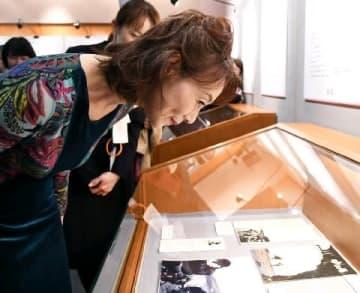 「砂の器展」島田陽子さん来場 清張記念館 [福岡県]