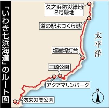 愛称「いわき七浜海道」に 市整備の自転車道路網