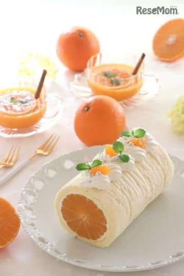 まるごとみかんのロールケーキを作ろう!