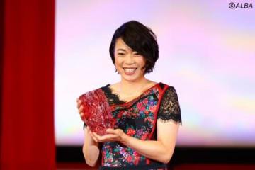 メディアが選ぶ『ベストコメント賞』に選出された大山志保(撮影:村上航)