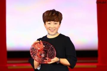メディアが選ぶ『ベストショット部門』で受賞した申ジエ(撮影:村上航)
