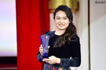 ステップ賞金女王を戴冠した20歳・河本結(撮影:上山敬太)