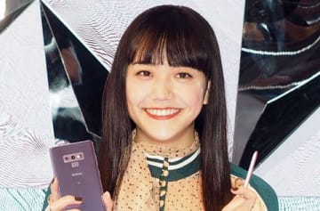 スマートフォン「Galaxy Note9」を活用した無料セミナー「Galaxy Sessions」に登場した松井愛莉さん