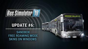 日本語対応バス運転シム『Bus Simulator 18』自由走行とサンドボックスモード実装!