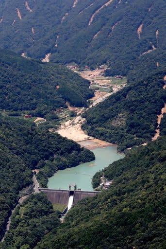 西日本豪雨で緊急放流をした野呂川ダム(7月12日)
