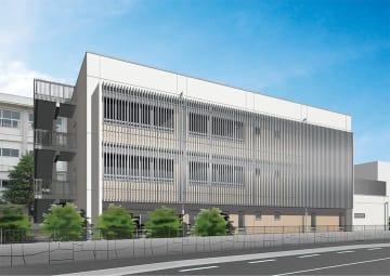 新校舎の外観イメージ図(神奈川県提供)