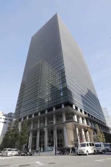 ゆうちょ銀行本社が入るビル=東京・大手町