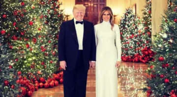 Donald & Melania Trump Unveil Official White House Christmas Portraits