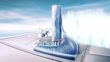夢洲駅(仮称)に直結した超高層タワービルのイメージ(大阪メトロ提供)