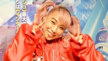 名古屋市内で行われたディズニー映画「シュガー・ラッシュ:オンライン」のスペシャルトーク&ライブイベントに登場した青山テルマさん