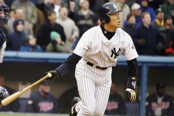 2003~2009年にヤンキースでプレーした松井秀喜氏【写真:Getty Images】