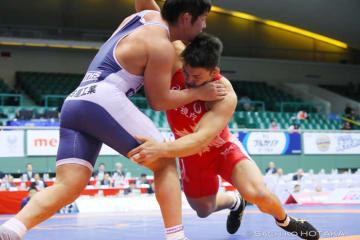フリースタイルで4度目の優勝を達成した男子フリースタイル92kg級の松本篤史(警視庁)