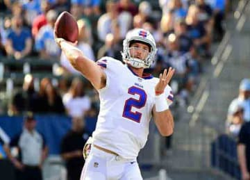 Raiders sign Ex-Bills QB Nathan Peterman to practice squad