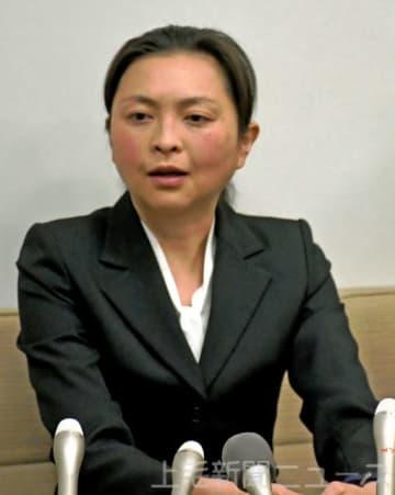 猶予判決を受け記者会見に応じた元マラソン日本代表の原裕美子さん。今後の更生を誓うとともに、摂食障害は現役時代に発症したとして「絶対に治す」と会見の場で語った(12月4日付より)