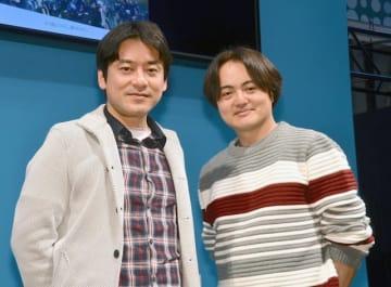 (左から)原作者の原泰久、松橋真三プロデューサー