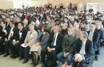講演に約300人が出席=22日、大分市アートプラザ