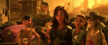 危険なレースの世界に生きるシャンク - 『シュガー・ラッシュ:オンライン』 - (C)2018 Disney. All Rights Reserved.