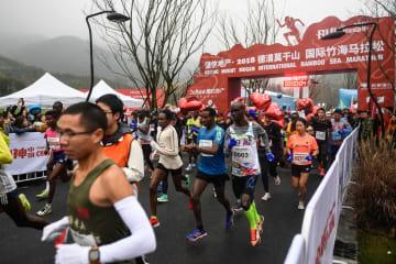 莫干山国際竹海マラソン開催 浙江省徳清県