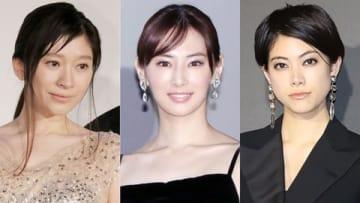 (左から)篠原涼子さん、北川景子さん、森星さん