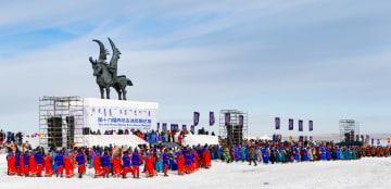 モンゴル族の祭典「氷と雪のナーダム」が開幕 内モンゴル自治区