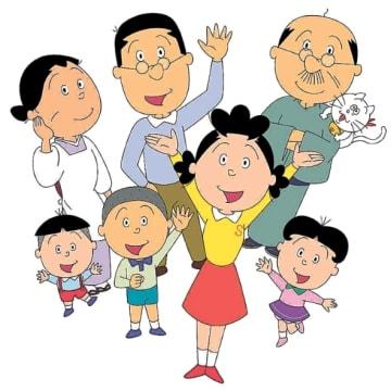 宮城県が観光キャンペーンに起用する人気漫画「サザエさん」一家=(c)長谷川町子美術館