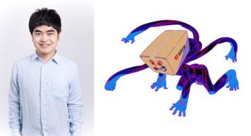 テレビアニメ「さらざんまい」に出演する加藤諒さんと加藤さんが声優を務める箱ゾンビ(C)イクニラッパー/シリコマンダーズ