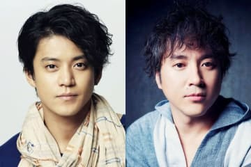 テレビ東京のスペシャルドラマ「二つの祖国」で共演する小栗旬さん(左)とムロツヨシさん