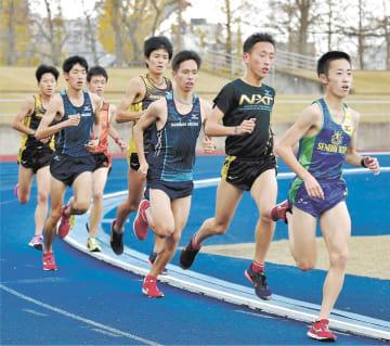 優勝も視野に3位以内を狙う仙台育英・男子チーム