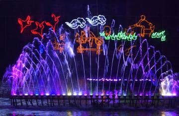 新年を迎えるイルミネーション 湖北省恩施