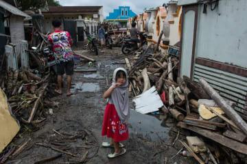 インドネシア津波、被災地の様子