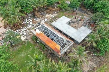 空から見たインドネシア津波被災地