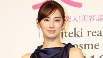 「美的ベストビューティウーマン」を受賞し贈賞式に出席した北川景子さん
