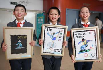 青少年切手デザイン展開催、冬季五輪をテーマ
