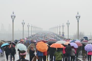 改修終えた南京長江大橋が一般公開