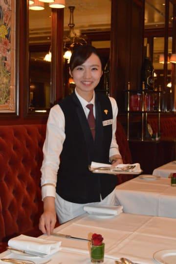 「宮崎観光ホテル時代の積み重ねがあって今がある」と語る向高小由紀さん=東京都千代田区・帝国ホテル東京