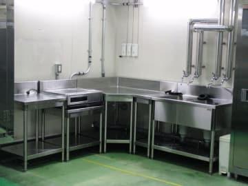 津久井学校給食センターに設けられた食物アレルギー対応特別食調理コーナー