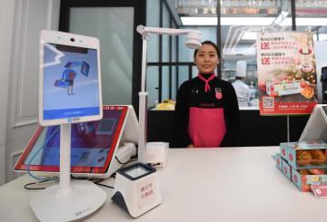アリペイの新型顔認証決済端末「トンボ」 北京に登場