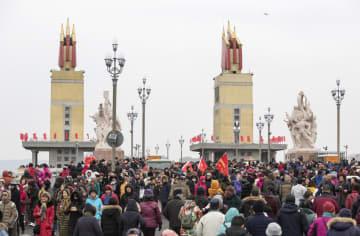 改修終えた南京長江大橋、一般公開2日目も大盛況