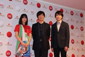 左から広瀬すずさん、内村光良さん、櫻井翔さん