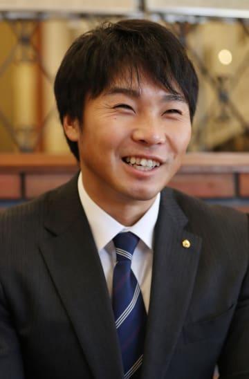 「世界選手権で11位以内に入りたい」と語る水本(チョープロ)=長崎市、長崎新聞社
