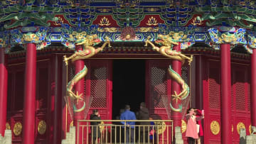 清朝康熙帝銘の「黄地三彩紫緑竜盤」展示始まる 瀋陽故宮