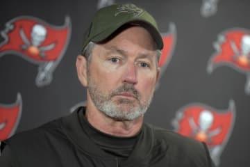 NFLバッカニアーズのコッター監督=11月(AP=共同)
