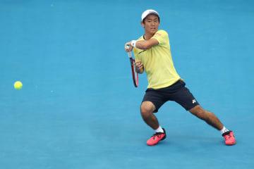 「ATP250 ブリスベン」1回戦での西岡