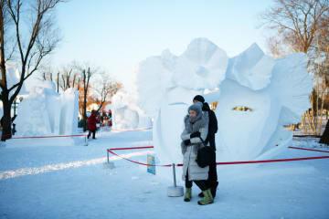 雪像芸術博覧会が一般公開 黒竜江省ハルビン市