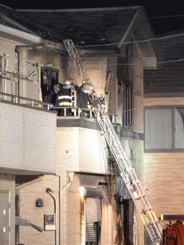 火災で遺体が発見された住宅=31日午後、千葉県四街道市