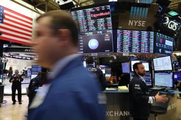 12月31日のニューヨーク証券取引所(ゲッティ=共同)
